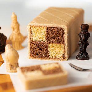 Chocolate and Hazelnut Battenberg Cake